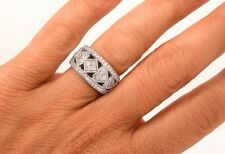 $3200 Wow .83ct Diamond 14K Heart Band Ring 9.5 Grams H-I color VS2-SI1 clarity