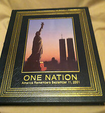 Easton Press ONE NATION - America Remembers Sept.11, 2011 - Fine Leather Binding