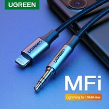 Ugreen MFi Lightning to 3.5mm Audio Aux Cable for iPhone11 Car Headphone Speaker