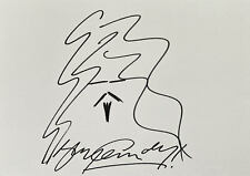 More details for billy connolly 'comedian' self portrait sketch doodle 12x8 art drawing signed