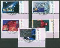 Bund Nr. 2077 - 2081 Eckrand Ecke 4 gestempelt Vollstempel ESST Motiv Weltraum