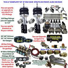 Air Suspension Kit-COMPLETE U-have Strut Front/4Link Rear See Description below