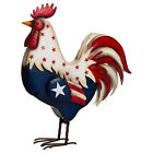 Patriotic Rooster Sculpture Resin Rooster Statues Independence Day Decor