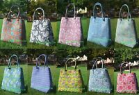 Tote Bag Indian Mandala Block Printed Handbag Cotton Women Satchel Purse Lady