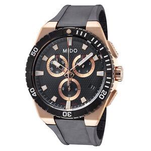 Mido Men's M0234173705100 Ocean Star 44mm Black Dial Silicone Watch