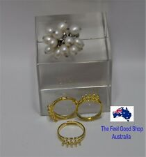 Gold Plated Adjustable Ring Blanks