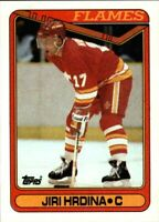 1990-91 Topps Calgary Flames Hockey Card #234 Jiri Hrdina ROOKIE Card! NM-M RC