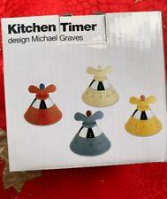 Alessi Kitchen Timer A09 Timer da Cucina di Design con Movimento Meccanico in Re