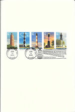 #3787-#3791b First Day Ceremony Program 37c SE  Lighthouses w/Low 37c on #3788