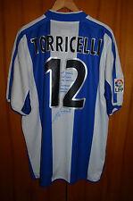 RCD ESPANYOL MATCH WORN ISSUE FOOTBALL SHIRT CAMISETA JERSEY PUMA #12 TORRICELLI