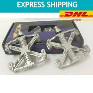 Vintage Pedals GT BMX Bicycle Alloy 9/16 SILVER WING OLD STOCK EXPRESS
