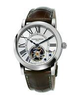 Frederique Constant Heart Beat Swiss Automatic Silver Tone 42mm Men's Watch