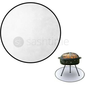 Fireproof Pit High Temp Mat Fire Pit Mat & Grill 38 Inch Round Deck Protector UK