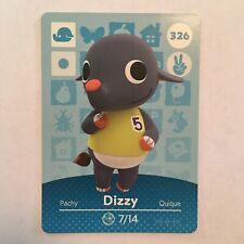 Dizzy 326 Animal Crossing Amiibo Card Series 4 - Never Scanned & Genuine