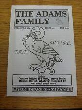 1992/1993 Wycombe Wanderers: fanzine-La Famiglia Adams, numero 06 FEBBRAIO 1993.