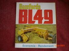 ANCIENNE BROCHURE PUBLICITAIRE   PRESSE  RAMASSEUSE  BAMFORDS  BL 49