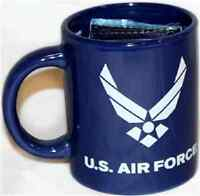 12oz Blue U.S. Air Force Wings Ceramic Mug with 12x18 Air Force Flag
