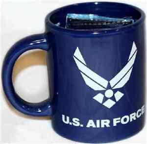 12oz Blue U.S. Air Force Wings Ceramic Mug with 12x18 Air Force Flag