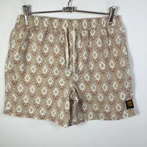 Insight mens shorts size 32 beige geometric cotton blend elastic waist