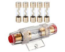 AGU Glassicherung Sicherung vergoldet 10/20/30/40/50/60/80/100A 10x37mm & Halter