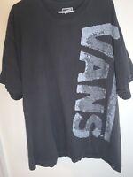 Vans Short Sleeve Shirt Black Size XXL 2XL Cotton Blend Graphic Tee Sweat