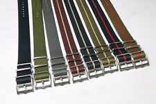 Premium Adjustable Tudor Style Single Pass Nato Watch Straps 20mm 22mm
