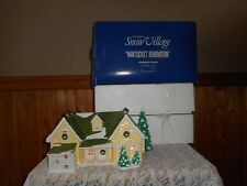 """""""NANTUCKET RENOVATION"""" DEPARTMENT 56 LIGHTED  CERAMIC SNOW VILLAGE WITH BOX 1993"""