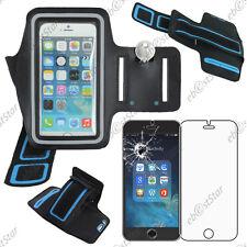 "Housse Coque Etui Brassard Sport Armband Noir Apple iPhone 6S Plus 5,5"" + Verre"