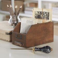 "Wooden Card Catalog Keepsake Box From Birch Lane 6.13""H x 10.5""W x 6""D Vintage"
