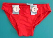 BAS DE MAILLOT DE BAIN SLIP 6 mois 68cm rouge bébé fille STAR TEXTIL NEUF