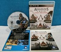 Assassin's Creed: Ezio Trilogy (Sony PlayStation 3, 2012) Tested & Working