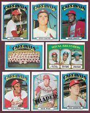 1972 Topps St Louis Cardinals Complete Team Set Brock Gibson Carlton NRMT (34)
