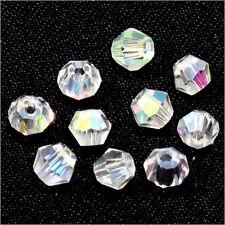 40 Perles Tchèques Toupies en Cristal 4mm Cristal AB