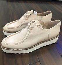 900a7af34 Zara 100% Cuero De Gamuza De Plataforma Plana Zapatos Con Cordones Size Uk  7 UE 40 EE. UU. 9