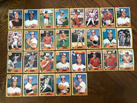 1987 BALTIMORE ORIOLES Topps COMPLETE Baseball Team Set 29 Cards RIPKEN MURRAY!