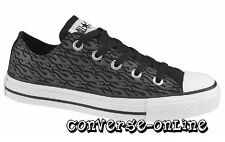 KIDS Girl Boys CONVERSE All Star BLACK GREY WHITE FLAME Trainers Shoe UK SIZE 11