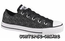 Kids Fille Garçons Converse All Star Noir Gris Blanc Flamme Baskets Chaussures Taille UK 11