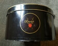 Vintage Men's Hat Box Churchill Black box w/strap