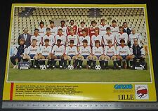 CLIPPING POSTER FOOTBALL 1987-1988 LILLE OSC LOSC DOGUES GRIMONPREZ-JOORIS