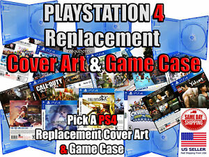 PS4 PlayStation 4 Replacement Game Cover Art Box Art & Game Case