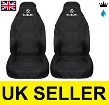 Suzuki B + W Premium Protectores De cubiertas de asiento de coche 100% A Prueba De Agua/Negro