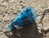 Faceted orgone healing turquoise howlite crystal dowsing pendulum