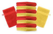Betz 10er Pack Waschhandschuhe Waschlappen Premium Gelb & Rot Größe: 16x21 cm