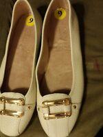 Aerosoles Sherbet Loafers Flats Slip On Off White New w/o Box Size 9