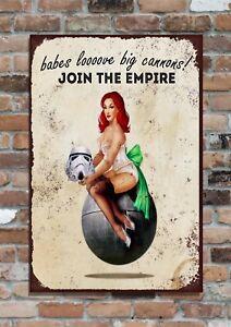 """STAR WARS Empire, 10x8"""" Retro Vintage Metal Advertising Sign Plaque"""