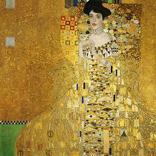 Gustav Klimt Portrait Adele canvas print giclee 8,3X8,3 art reproduction poster