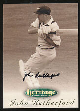 1996 Futera John Rtutherford Signature Heritage Collection Cricket Card no. 25