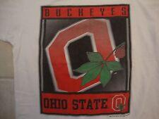 Vintage Ncaa Ohio State Buckeyes Sportswear Fan Apparel White T Shirt Size M