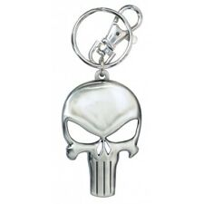 Marvel Comics The Punisher Skull Logo Pewter Key Ring Key Chain NEW UNUSED