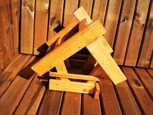 SALE! Wooden Bird Feeder waterproof roof Gift box garden durable ! hanging
